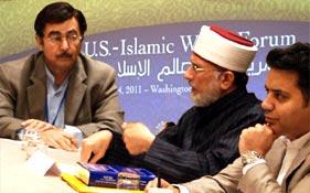 OIC Leaders, Qatari Foreign Minister & other dignitaries meet Shaykh-ul-Islam at U.S.-Islamic World Forum in Washington DC