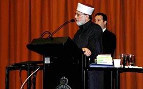 Shaykh-ul-Islam speaks at NSW Parliament House in Sydney, Australia