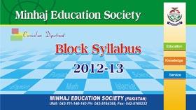 Block Syllabus Minhaj Education Society 2012-13
