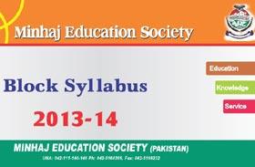 Block Syllabus 2013-14 - Minhaj Education Society